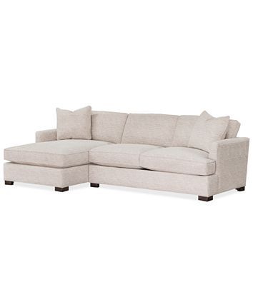 Furniture Juliam 2 Pc Fabric Sofa With Chaise Created For Macy S