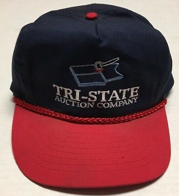 Details About Vtg Tri State Auction Company Hat North Dakota