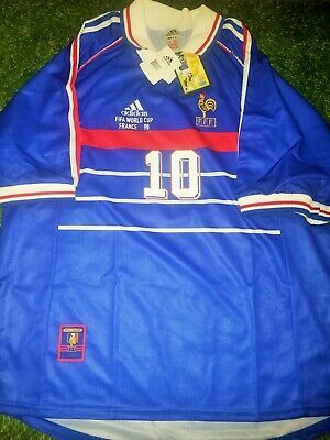 Authentic Zidane France 1998 Wc Jersey Real Madrid Maillot Shirt Bnwt Xl Fashion Sports Mem Cards Fan Shop Fanapparels In 2020 France Jersey Shirts White Shirt