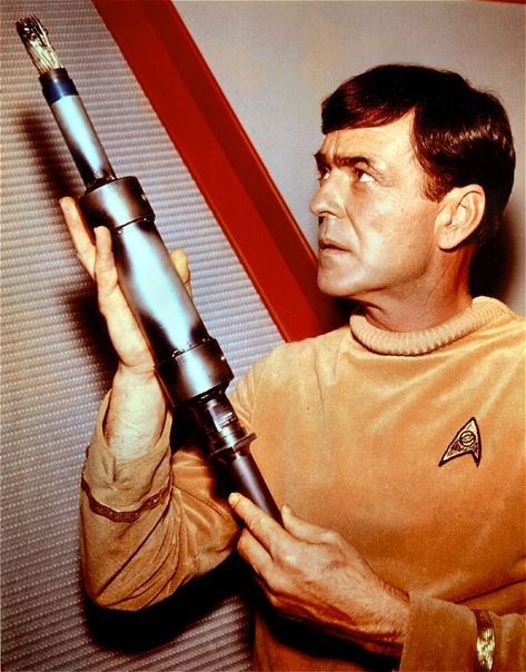 Scotty - Where No Man Has Gone Before The old uniforms, before they had colorful ones. lol (: