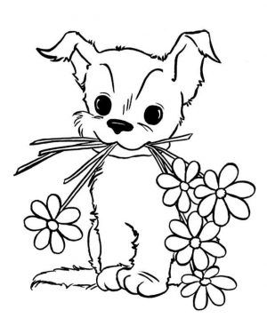 Cute Animal Coloring Pages For Children Puppy Coloring Pages