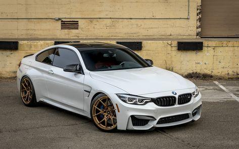 Herunterladen Hintergrundbild Bmw M4 2017 F83 Weiß Luxus Coupé
