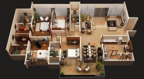 4 Rooms Idea