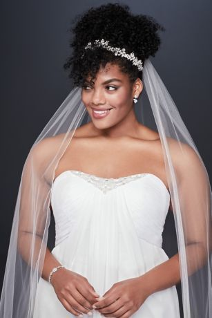 Pleated Chiffon Plus Size Wedding Dress With Beads David S