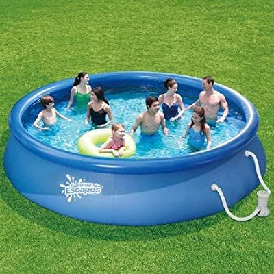 Summer Escapes 15 Quick Set Above Ground Ring Pool With Pump With Gfci Garden Out In 2020 Easy Set Pools Inflatable Swimming Pool Swimming Pool Filters