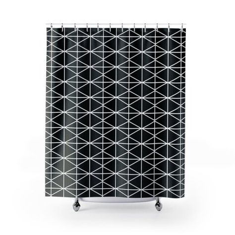 Modern Geometric Shower Curtains