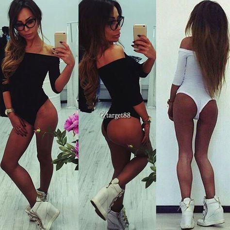 dbf08a89b060 Ladies Long Sleeve Stretch Bodysuit Leotard Blouse Bodysuit Top T Shirt Utar