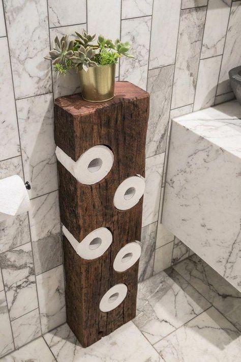 p/rustic-toilet-roll-holder-bathroom-decor-toilet-paper-etsy-bai - The world's most private search engine Diy Bathroom Decor, Diy Home Decor, Bathroom Organization, Wood Bathroom, Bathroom Storage, Rustic Bathrooms, Budget Bathroom, Bathroom Ideas, Garage Workshop Organization