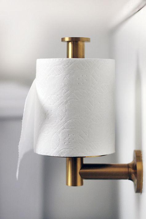 simple, pretty toilet paper holder