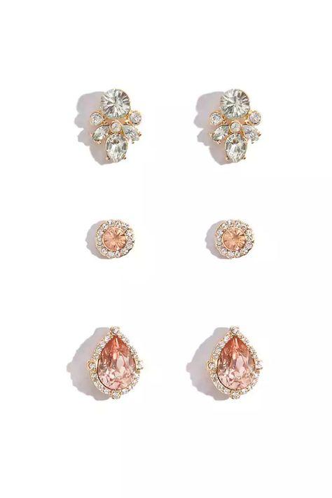Product Name:Faux Gem & Tassel Drop Earrings, Category:ACC