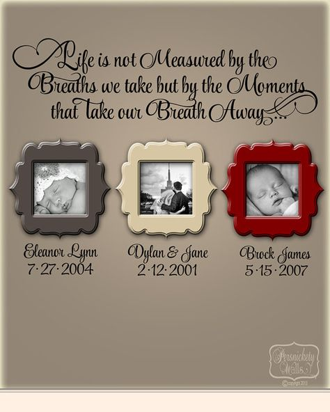Life is not measured by the Breaths we Take... - vinyl wall quote with Personalized name and date lettering- choose your color on Etsy, $33.00