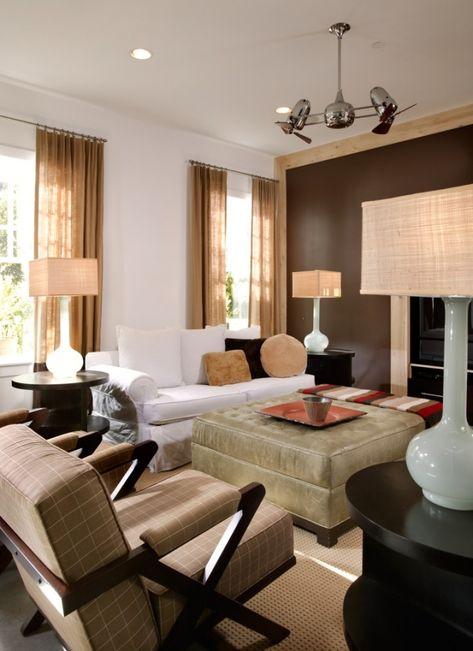 Wohnzimmereinrichtung Ideen Brauntone Sind Modern Wohnzimmer