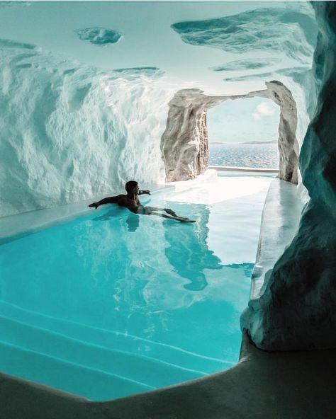 The 'Cave Suite' in Mykonos' Cavo Tagoo reso... - #cave #Cavo #Mykonos #placestovisit #reso #Suite #Tagoo