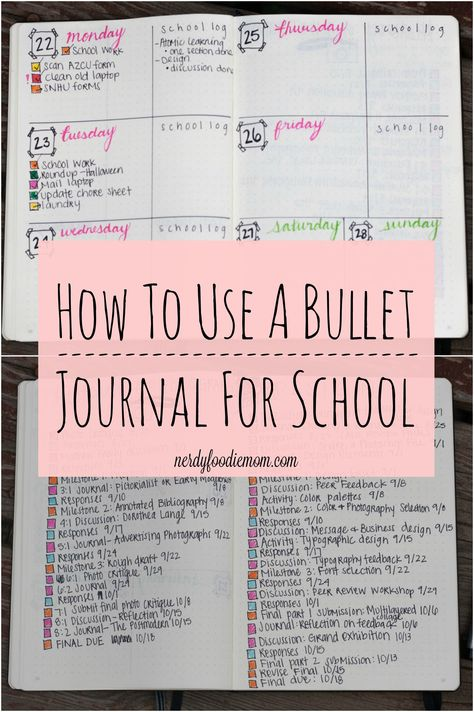 How To Use A Bullet Journal For School
