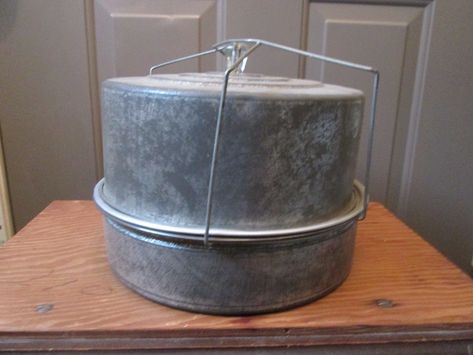 Antique Tin Cake Carrier