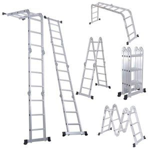 6 Luisladders 12 5 Feet Aluminum Multi Purpose Ladder Multi Position Ladder Scaffold Ladder Folding Ladder Aluminium Ladder