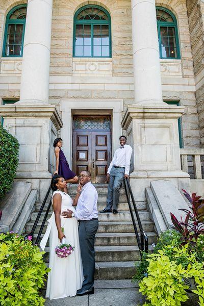 African American City Hall Wedding Itan Images City Hall Wedding Atlanta Wedding Photographer Atlanta Wedding
