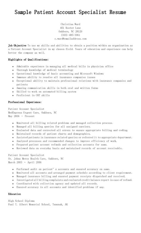 Credit Specialist Sample Resume Credit Specialist Sample Resume - Treasury Specialist Sample Resume