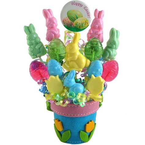 Easter just wouldn't be the same without bunnies, eggs, and spring flowers, so send them in a unique and sweet way with these delicious lollipops! Features eighteen pasel Easter-inspired lollipops in flavors like marshmallow, apple, and pink lemonade!