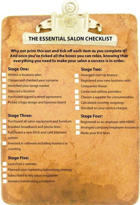 Start Up Salon is the best source of business advice for hair and - business startup checklist