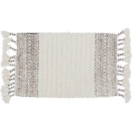 Cotton Pattern Edge Bath Rug 20x32