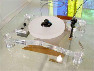 Custom Made Acrylic Turntables Make Me Want To Trade In My Sl 1210s Diy Turntable Turntable Turn Table Vinyl