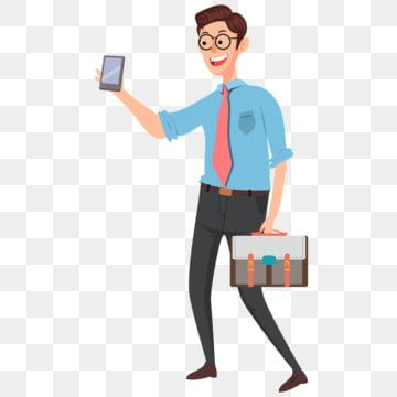 Office Boy Business Illustration Boy Manager Office Png And Vector With Transparent Background For Free Download Business Illustration Cute Cartoon Boy Cartoon Styles