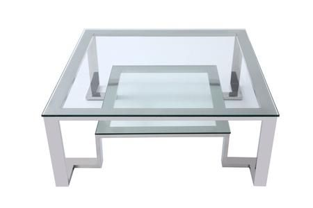 Fab Collection Ct1447 40 Coffee Table With Clear Glass Top Bottom