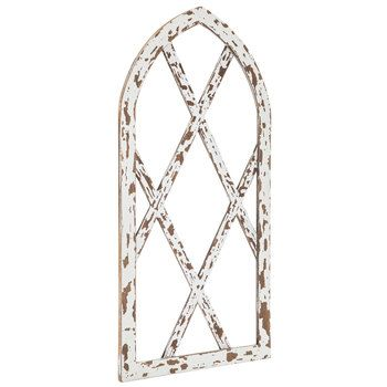 Chippy White Arched Wood Wall Decor With Images Wood Wall