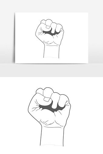 Black And White Minimalist Comic Consumer Rights Day Fake Fist Element Pikbest Graphic Elements Cartoon Styles Graphic Black And White Illustration