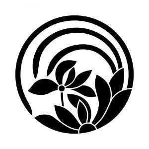 一つ蘭の丸 1 和柄 家紋 日本 文様