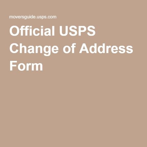 Dmv Change Of Address Form Who Do You Tell Youre Moving Moving To A - official change of address form