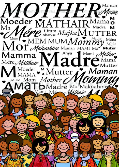 Mother In Different Languages Happy Mothers Day Card Ad Ad Happy Languages Mother Card
