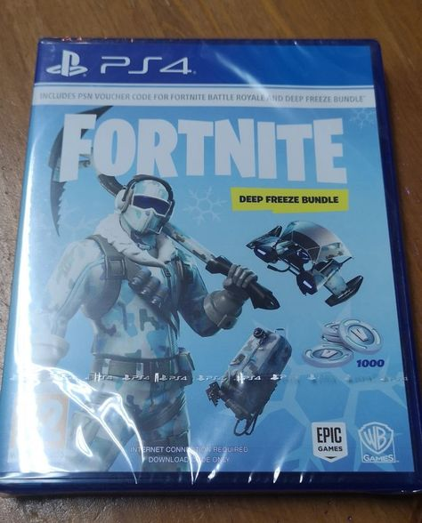 Fortnite Deep Freeze Bundle Ps4 1000 V Bucks Psn Code Free Post