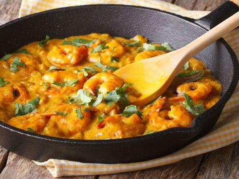 Poelee De Crevettes Curry Coco Recette Poelee De Crevettes