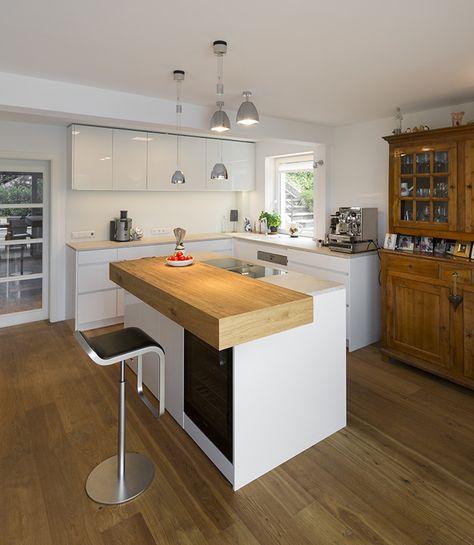 küche mit freiem block bora professional abluft im bodenkanal