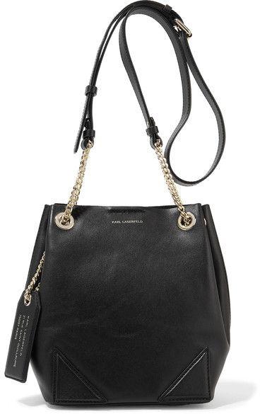 83fe99ebcc Karl Lagerfeld K slouchy Small Leather Shoulder Bag - Black ...