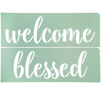 Welcome Blessed Adhesive Stencil Hobby Lobby 1733997 Stencil Crafts Adhesive Stencils Stencils