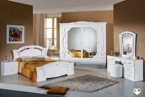 Ambra Laque Blanc Ensemble Chambre A Coucher Avec Images