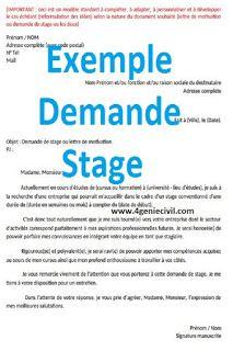 2 Exemples De Modèles De Exemple Demande Stage Pdf Ceci Est