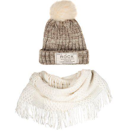 Aerusi Classic Pompom Knit Beanie