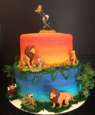 This cake brought back a lot of childhood memories for me. I was obsessed with the Lion King or was it more with Johnathon Taylor Thomas who played young Simba, either way, I loved the Lion King. Lion King Theme, Lion King Party, Lion King Birthday, Lion Birthday Cakes, Lion Guard Birthday Cake, Lion Cakes, Lion King Cakes, Lion King Wedding, Lion King Pictures