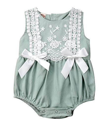 Newborn Infant Baby Girl Kid Summer Clothes Bow Romper Bodysuit Sunsuit Outfits