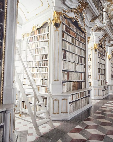 Admont Abbey Library, Austria, is the largest monastic library in the world, completed in