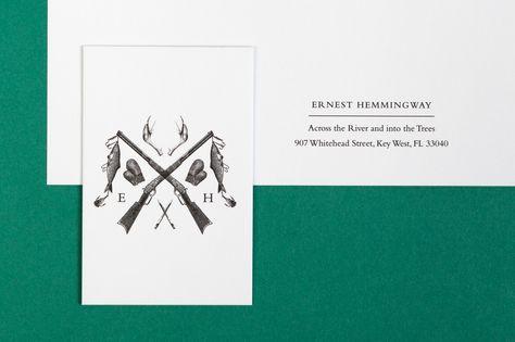 Historical Figures' Letterheads -  Ernest Hemmingway