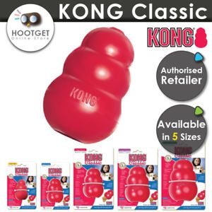 Kong Classic Stuffing Dog Toy Tough Pet Treat Chew Rubber S M L Xl