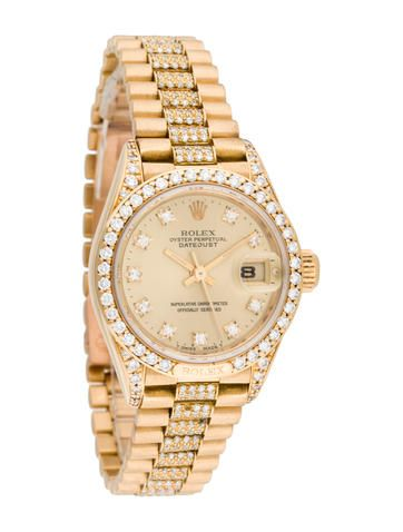 Rolex Oyster Perpetual Lady Datejust President Watch