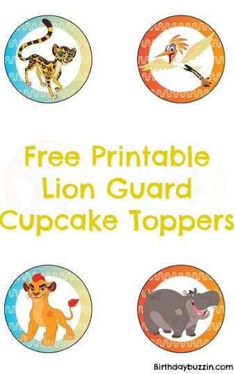 Awesome Free Printable Lion Guard Cupcake Toppers Lion King Birthday Funny Birthday Cards Online Barepcheapnameinfo