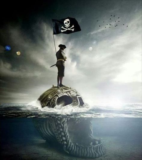 """bootyanddoubloons:  """"Jolly Roger Pinterest  """""""