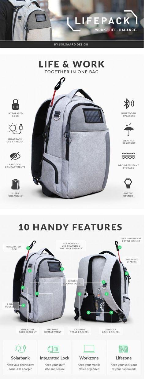 Lifepack: Solar Powered & Anti-Theft Backpack by Solgaard Design — Kickstarter / technews24h.com
